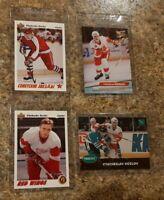(4) Slava Kozlov 1991-92 Upper Deck Parkhurst Rookie card lot RC Red Wings Ultra