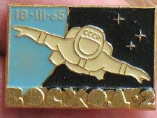 Soviet COSMOS Space Man Suit Ship Craft Pin Badge Button Rocket Fly Voshod EVA 2