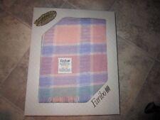 VTG Faribo Woolen Mill Wool Blend Fringed Afghan Throw Blanket 50 x 60 NIB