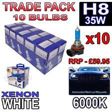 10 X H8 35w Xenon Blanco bombillas halógenas 6000k-comercio a granel venta al por mayor 10 Pack Niebla