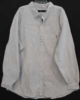Polo Ralph Lauren Big Tall Mens Gray Striped Oxford Button-Front Shirt NWT 4XLT