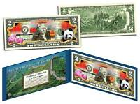 PEOPLE'S REPUBLIC OF CHINA Colorized $2 Bill U.S. Legal Tender Panda Great Wall