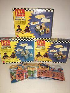 Mcdonalds Happy Meal Magic Refill Park  Mattel #10656 (3) Plus 5 Extra Boxes