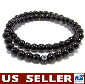 HANDMADE💕 Protective DUO Bracelet Gemstones Black Mashan Jade Evil Eye Stretchy