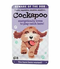 Beware of the Cockapoo Funny Metal Wall Sign Hanging Plaque Dog Lovers Gift
