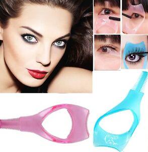 Eyelash Brush Curler Mascara Guard- 3 in 1 Applicator Tool Stencil Shield Guide*