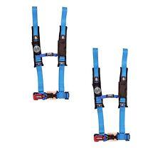 """Pro Armor 4 Point Harness 2"""" Pads Seat Belt PAIR BLUE Kawasaki Teryx 750 / 800"""