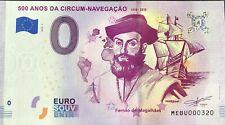 BILLET 0 EURO 500 ANOS DA CIRCUM NAVGACAO MAGELLAN PORTUGAL 2019-1  N°  DIVERS