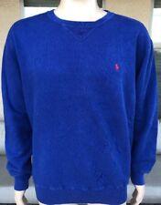 Vintage 90s Polo Ralph Lauren Solid Blue Crewneck Sweatshirt Hong Kong Large