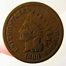 1868 Indian Head Cent Penny Coin 1c