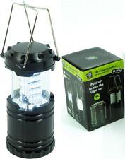LED Camping Laterne mit 30 langlebigen LEDs sehr kompakt mit Metallgriff schwarz