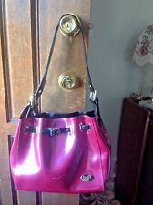 Hot Pink Leather Beijo Shoulder Bag Purse