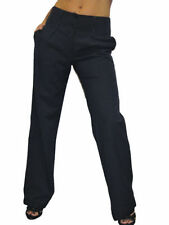 Unbranded Mid Rise Plus Size Tailored Trousers for Women