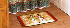 Linda Spivey Snowmen Bath Collection Rug, New