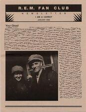 R.E.M. Fanclub Newsletter January 1994