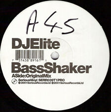 "DJ Elite ‎– Bass Shaker - Serious Records SERR039T1PRO VINYL 12"" BREAKBEAT PROMO"