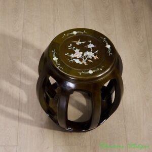 Hard wooden Garden Stool Drum Round Stool Guzheng Guqin Zither Stool #3579