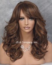 Heat Resistant Synthetic Wig Brown Mix Long n Wavy Side Skin Top JSHB 4.27.30