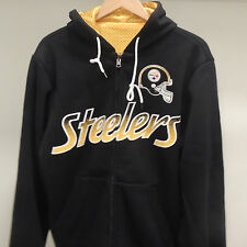 NFL Pittsburgh Steelers Game Time Reversible Hooded Jacket New Mens LARGE
