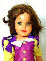"DOLL 1950 WALT DISNEY PROD SNOW WHITE DRESS CLOTHES LGR 22"" SLEEP EYE DE LUXE"