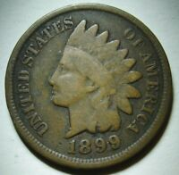 1899 Indian Head Cent in Average Circulated Condition    DUTCH AUCTION
