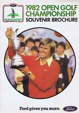 1982 campionato OPEN GOLF Opuscolo Souvenir