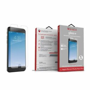 Zagg Glass+ Screen Protector For iPhone SE, 6/7/8, 6/7/8 Plus X/XS, X/Xs Max, XR