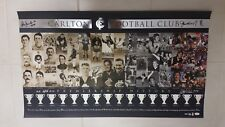 CARLTON PREMIERSHIP HISTORY PRINT SIGNED BY ALL LIVING PREMIERSHIP CAPTAINS