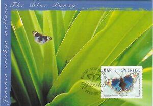 Junonia Orithya Wallacei Butterfly Sweden Mint Maxi FDC Card 1999