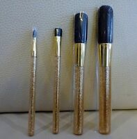 ESTEE LAUDER 4 piece Golden Makeup Brush Set, Brand NEW Sealed! 100% Genuine!