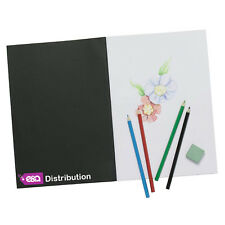 E&A A4 Sketch Book Pad White Cartridge Paper Black Cover New