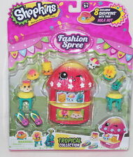 Shopkins FASHION SPREE 8 Pack *NEW* TROPICAL COLLECTION Hula Hut