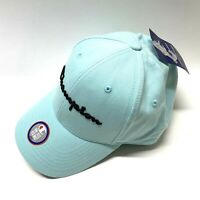 Champion Authentic Mens OSFM Spell Out Logo Adjustable Teal Baseball Cap Hat NWT