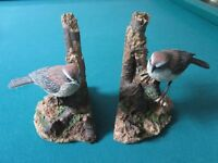Hour Of Power Sparrows Club 2002 Resin Bird Bookends RARE