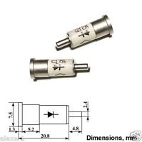 6 pcs Microwave Mixer Silicon Si Diode 8.2...14.2GHz D405 B USSR