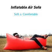 Outdoor Inflatable Air Bed Sofa Portable Lazy Chair Lounge Couch For Camping Bag
