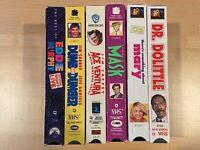 Various Silly Comedy VHS Movie Bundle - Jim Carrey / Eddie Murphy / Ben Stiller