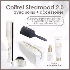 L'OREAL - PACK STEAMPOD 2.0 SÉRUM & CREME CHEVEUX FINS + TROUSSE + BROSSE