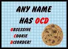 FUNNY ossessiva disordine Cookie Blu personalizzata tavola PLACEMAT