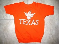 Vintage TEXAS LONGHORNS UT BEVO Cheerleading Bevo Shirt Sweatshirt USED MED