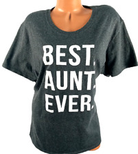 Port & Company gray white best aunt ever short sleeves round neck tee top 3XL