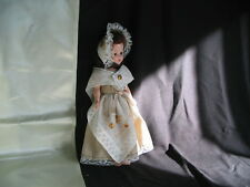 "Doll 11"" Hard Plastic Dress Me Doll Sleep eyes Brunette comes with 2 Outfits"