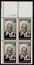 US #2203 22¢ Sojourner Truth Black Heritage Plate Block MNH