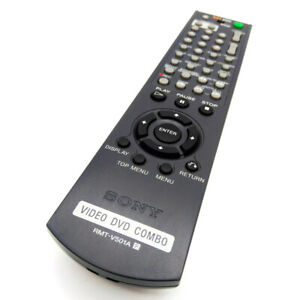 Used Original RMT-V501A For Sony Video DVD Combo Remote Control SLV-D201P D300P