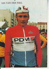 CYCLISME carte cycliste ADRI VAN DEN POEL critérium des as du 18/10/87