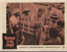 Manhunt in the Jungle 11x14 Lobby Card #4
