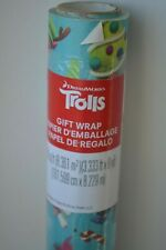 DreamWorks Trolls Christmas Wrapping Paper Roll Gift Wrap 90 sq ft Poppy Branch