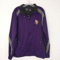 Antigua Men's Minnesota Vikings Full Zip Tempest Jacket Size L Purple Black