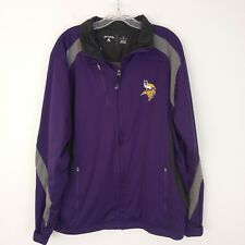 fe002380151 Antigua Men s Minnesota Vikings Tempest Jacket Size L Full Zip Purple Black