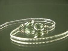 925 Sterling Silver Threader Earrings, Green Amethyst, SE005